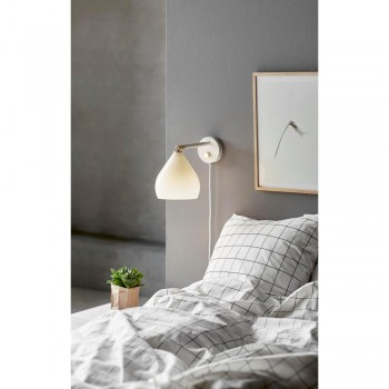 Nordlux DFTP 46101001 Sence Opal White Glass Wall Light