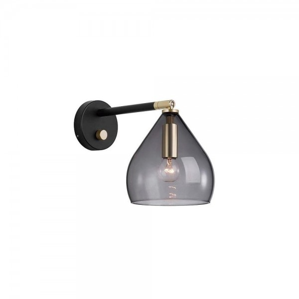 Nordlux DFTP 46101047 Sence Smoked Glass Wall Light