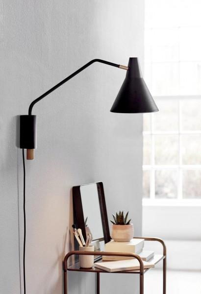Nordlux DFTP 46301003 Brassy Black Wall Light