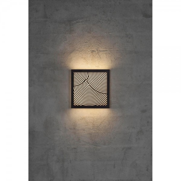 Nordlux DFTP 46881003 Maze Bended Black Outdoor Wall Light