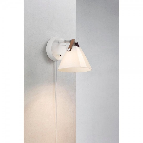 Nordlux DFTP 46241001 Strap White/Opal White Wall Light