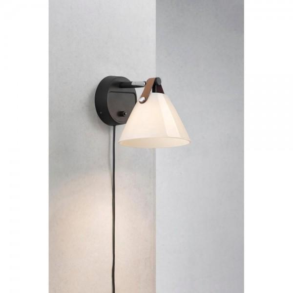 Nordlux DFTP 46241003 Strap Black/Opal White Wall Light