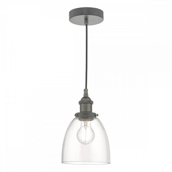 Dar Lighting ARV0161 Arvin Pendant Antique Chrome & Glass