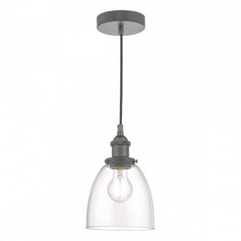Dar Lighting ARV0161 Arvin Pendant Antique Chrome & Glass