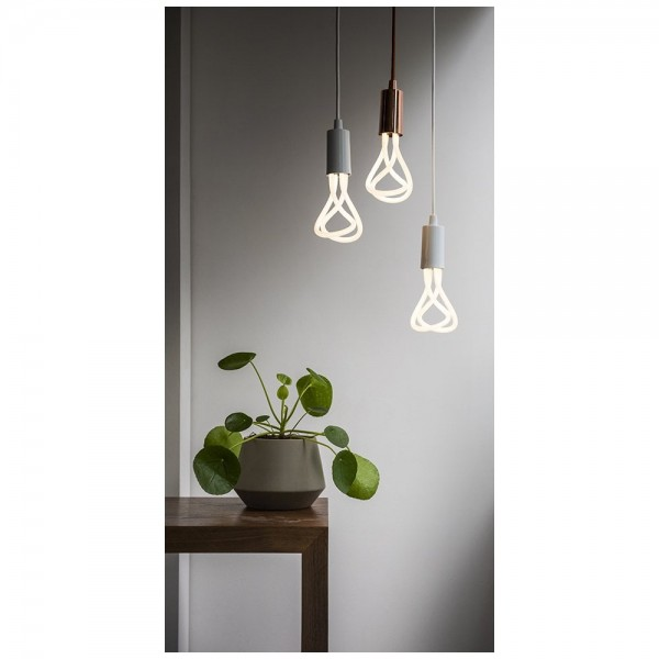 Plumen 001 LED Bulb and Pendant Set Black