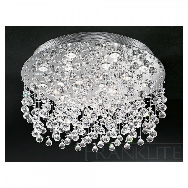 Franklite FL2019/18 Constellation Flush Crystal Ceiling Light
