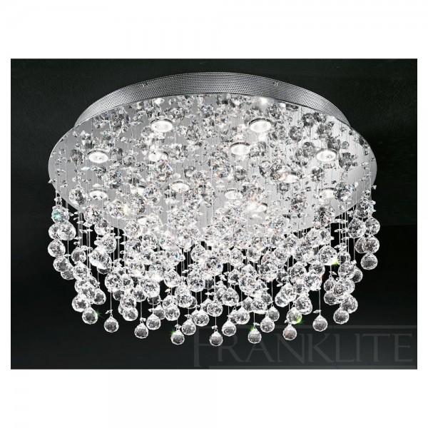 Franklite FL2019/18 Constellation Flush Crystal Ceiling Light