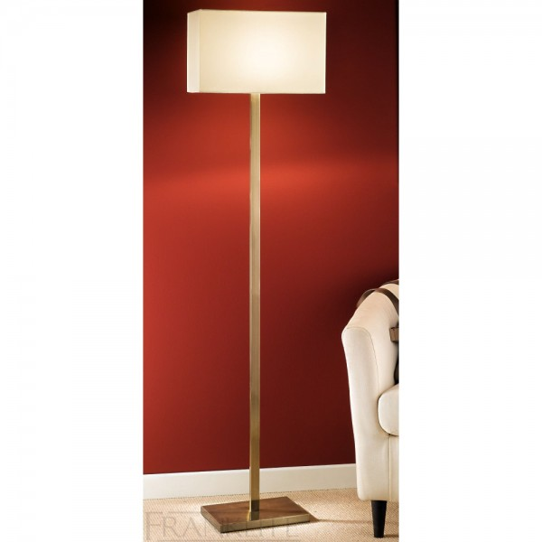 Franklite SL1569881 Bronze Floor Lamp With Rectangular Shade