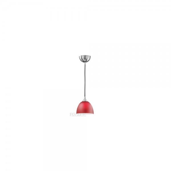 Franklite FL2290/1/933 Red Glass Single Pendant Light