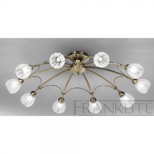 Franklite FL2207/10 Chloris Bronze Flush Ceiling Light