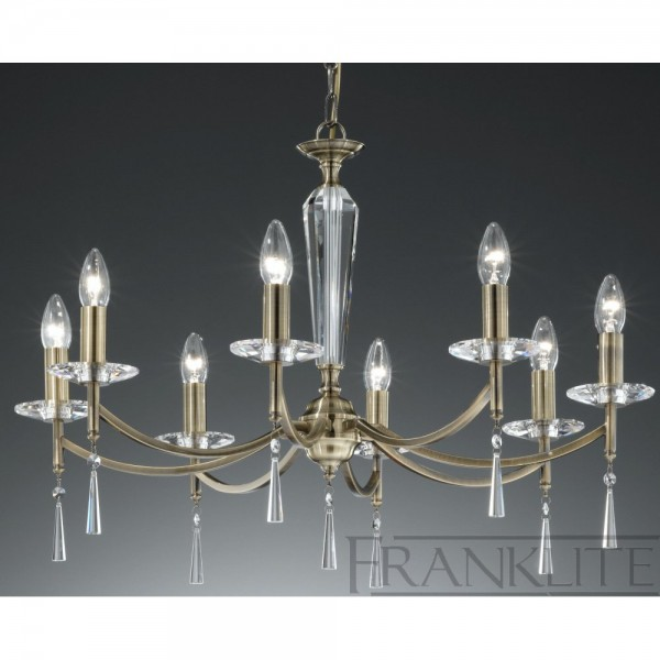 Franklite FL2240/8 Hera Bronze 8 Light Chandelier