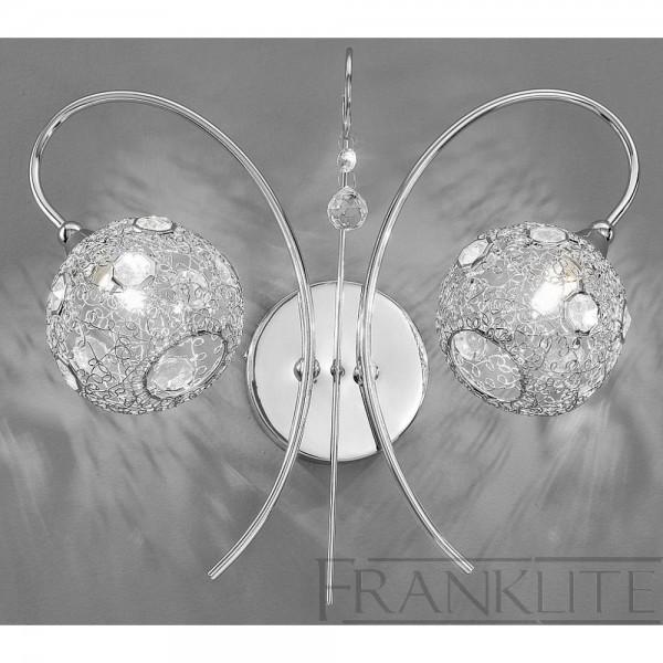 Franklite FL2214/2 Orion Chrome Double Wall Light