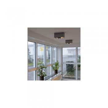 Intalite 117111 White Kardamod Surface Square ES111 Double Ceiling Light