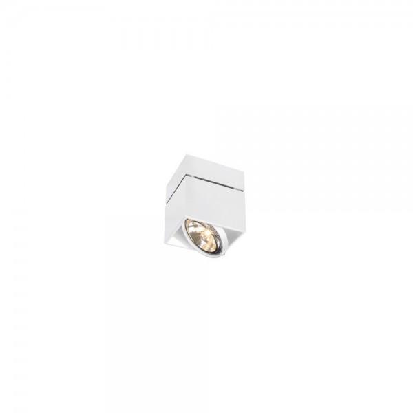 SLV 117121 White Kardamod Surface Square QRB Single Ceiling Light