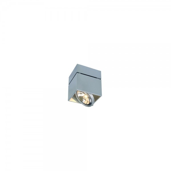SLV 117124 Silver-Grey Kardamod Surface Square QRB Single Ceiling Light