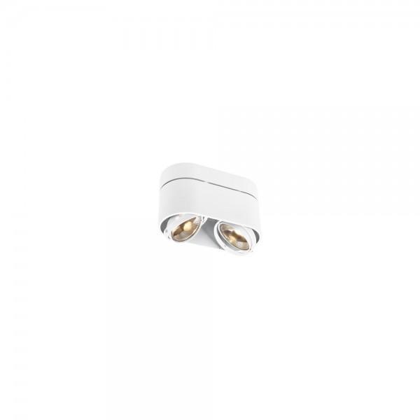 SLV 117181 White Kardamod Surface Round ES111 Double Ceiling Light