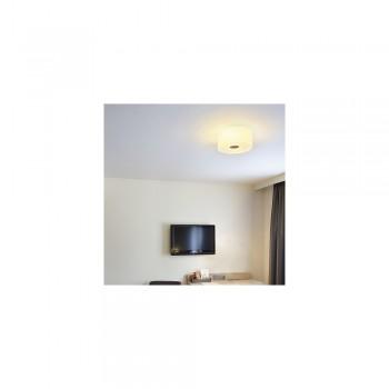 SLV 146942 Malang White/Chrome Flush Ceiling Light