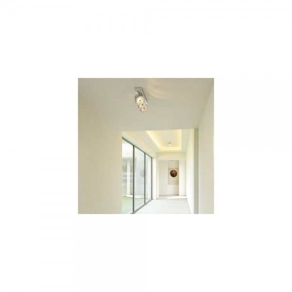 SLV 147276 Kalu 3 Brushed Aluminium Ceiling & Wall Light