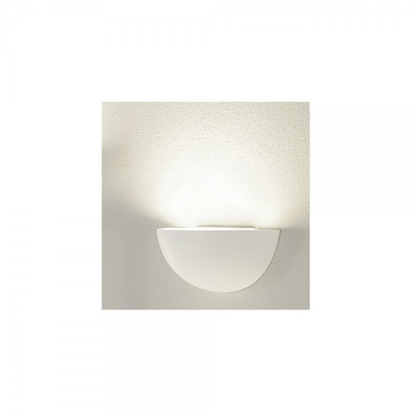SLV 148013 GL 101 E14 Plaster White Wall Uplighter