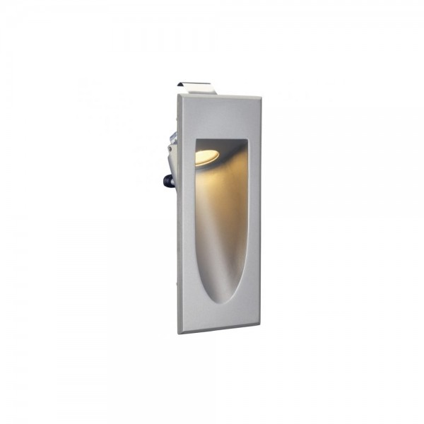 SLV 152072 Silver-Grey LED Downunder Mini 3000K Recessed Wall Light