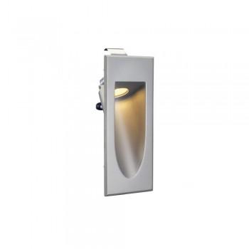 SLV 152072 Silver-Grey LED Downunder Mini 3000K Recessed Wall Light
