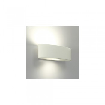 Astro Lighting Ovaro 1123001 white ceramic finish interior wall-light