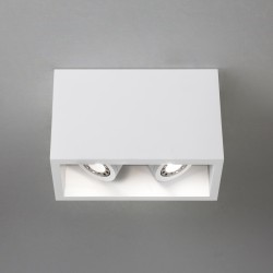 Astro Lighting Osca 140 Twin Adj 1252005 Plaster Finish interior downlight