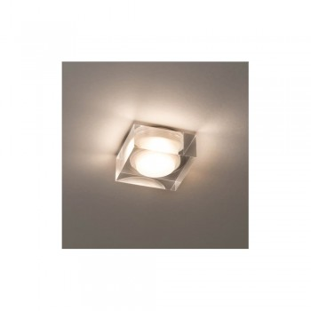 Astro Lighting Vancouver 45 Square LED 5695 Polished chrome finish, clear glass bathroom downlight