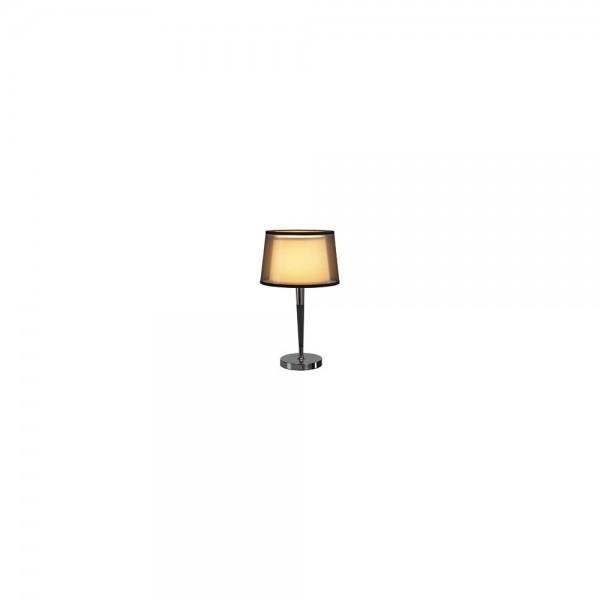SLV 155651 Chrome/White/Black Bishade TL-1 Table Lamp