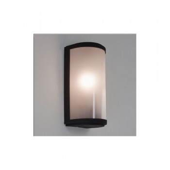 Astro Lighting Paros Frosted 7184 Painted black finish white frosted glass diffuser Exterior wall-light