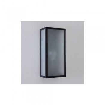 Astro Lighting Messina frosted 1183003 Painted black finish White frosted glass diffuser Exterior Wall-light