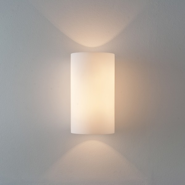 Astro Cyl 260 1186002 White Glass Wall Light