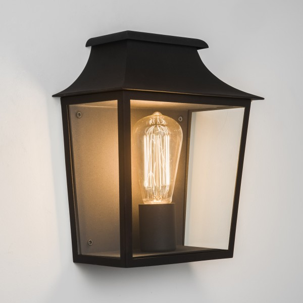 Astro Richmond 235 1340001 Black finish with clear glass Exterior wall-light