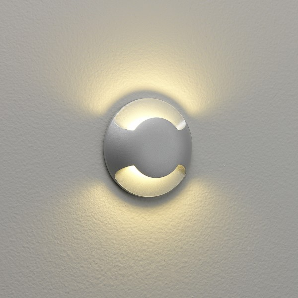 Astro Beam Two 1202002 Painted Silver Outdoor Wall Light