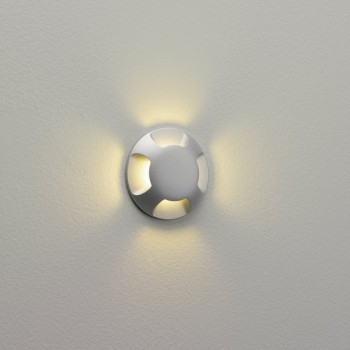 Astro Lighting Beam Four 1202003 Painted Silver Outdoor Wall Light