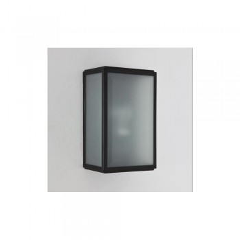 Astro Lighting Homefield Sensor 1095011 Painted Black Finish, White Frosted Glass Diffuser Exterior Wall-light