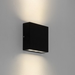 Astro Elis Twin 1331002 Black finish LED Wall-light