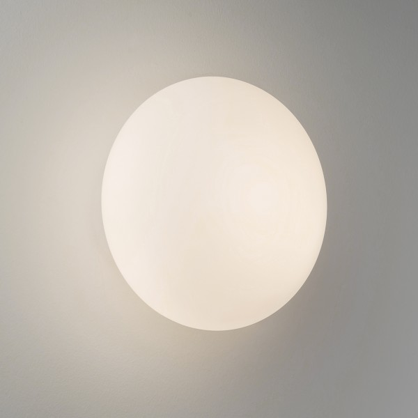 Astro Zeppo Wall 1176004 Polished chrome finish, white opal glass diffuser bathroom wall-light