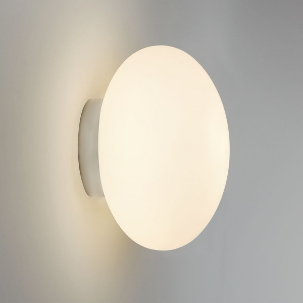 Astro Lighting Zeppo Wall 1176004 Polished chrome finish, white opal glass diffuser bathroom wall-light