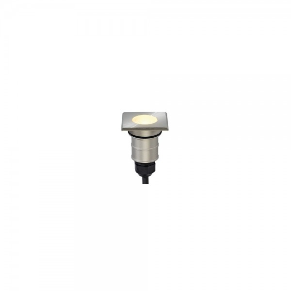 SLV 228342 Stainless Steel Power Trail-Lite Square LED Warm White Outdoor Wall & Ground Light