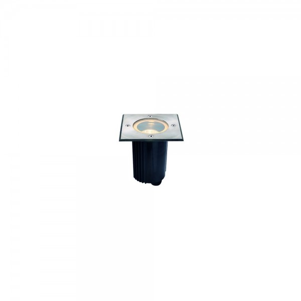 SLV 229324 Stainless Steel Dasar 115 GU10 Square Outdoor Ground Light