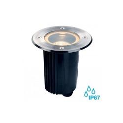 SLV 229330 Stainless Steel Dasar 115 MR16 Adjustable Round Outdoor Ground Light
