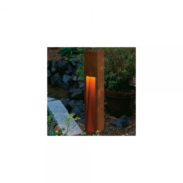 SLV 229411 Rusted Iron Rusty Slot 80 Outdoor Bollard Light