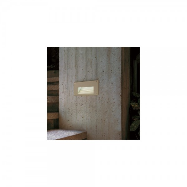 SLV 229702 Silver Grey Brick LED Downunder Warm White Outdoor Wall Light