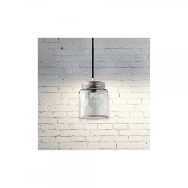 Culinary Concepts Hlg 068 As Antique Silver Coffee Jar Pendant Light