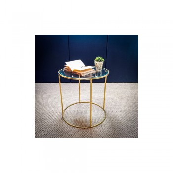 Culinary Concepts CC-547-S Antique Brass Small Round Table