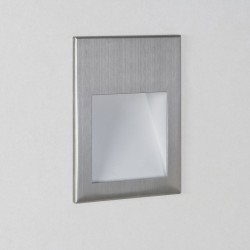Astro Lighting Borgo 90 1212006 Brushed Stainless Steel Recessed LED Wall Light
