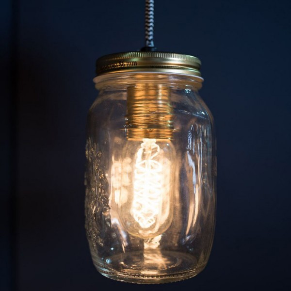 Culinary Concepts CC-6415 Single Preserve Jar Pendant Light