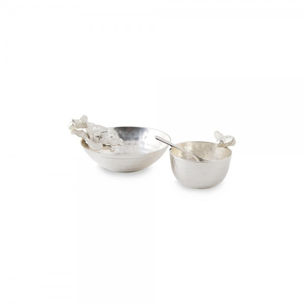 Culinary Concepts BEE-BOWL-SML Small Honey Bee Hammered Bowl & Spoon