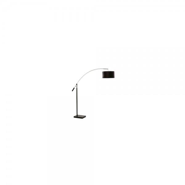 Searchlight 2121CC Arc Chrome and Black Finish Floor Lamp